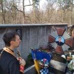 Панихида на Пущанському кладовищі
